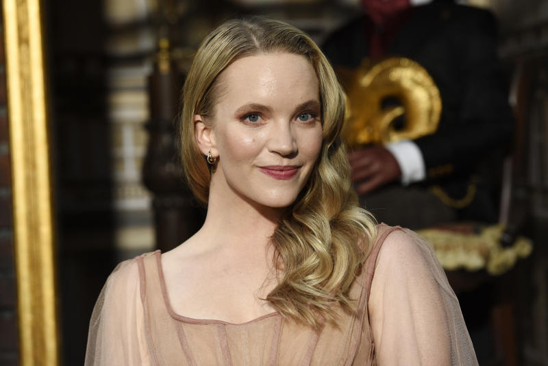"Tamzin Merchant, a cast member in the Amazon Prime Video series ""Carnival Row,"" poses at the premiere of the series at the TCL Chinese Theatre, Wednesday, Aug. 21, 2019, in Los Angeles. (Photo by Chris Pizzello/Invision/AP)"