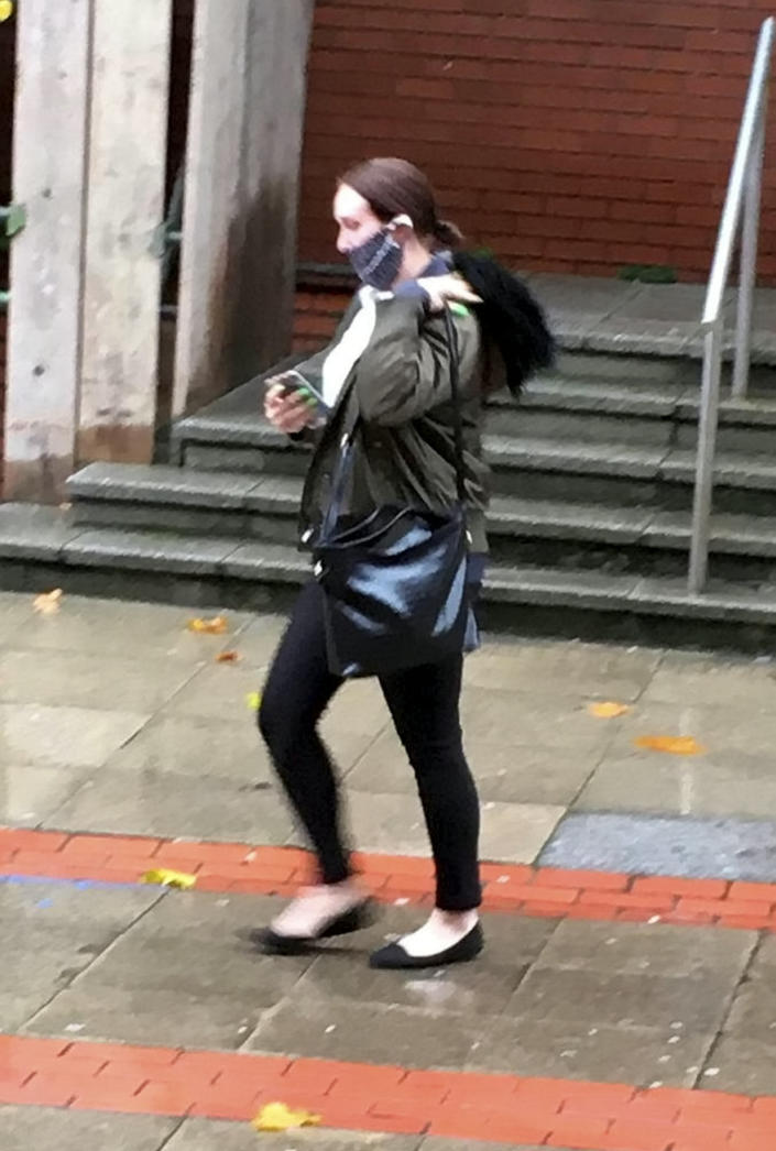 Jordan Trainor leaving Leeds Crown Court in October. (SWNS)