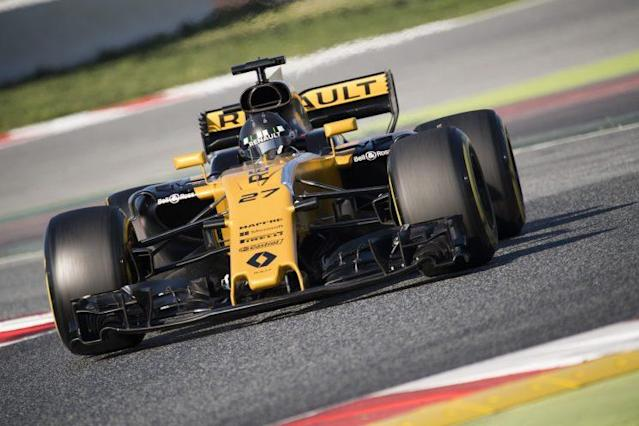 Hulking presence: Nico Hulkenberg has been tipped for F1 greatness many times but the 2017 Renault is still a midfield offering