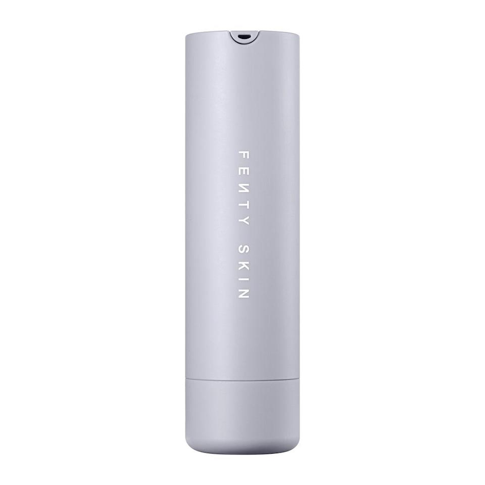 """Fenty Skin Hydra Vizor Invisible Moisturizer Broad Spectrum SPF 30 Sunscreen's name may be long, but it doesn't even begin to cover how advanced this protective day cream is. In addition to its cast-free sun filters, it also features brightening <a href=""""https://www.allure.com/story/niacinamide-skin-care-redness-side-effect?mbid=synd_yahoo_rss"""" rel=""""nofollow noopener"""" target=""""_blank"""" data-ylk=""""slk:niacinamide"""" class=""""link rapid-noclick-resp"""">niacinamide</a> and a pink tint that adds radiance to any skin tone. You'll definitely find yourself reaching for the <a href=""""https://shop-links.co/1736405717616314855"""" rel=""""nofollow noopener"""" target=""""_blank"""" data-ylk=""""slk:$30 refill"""" class=""""link rapid-noclick-resp"""">$30 refill</a> again and again (because you know how important it is to use sunscreen year-round)."""