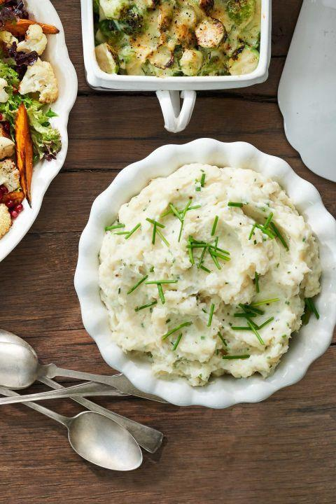 """<p>These creamy spuds come together while you prepare the rest of your meal. </p><p><strong><a href=""""https://www.countryliving.com/food-drinks/recipes/a40028/slow-cooker-mashed-potatoes-recipe/"""" rel=""""nofollow noopener"""" target=""""_blank"""" data-ylk=""""slk:Get the recipe"""" class=""""link rapid-noclick-resp"""">Get the recipe</a>.</strong> </p>"""