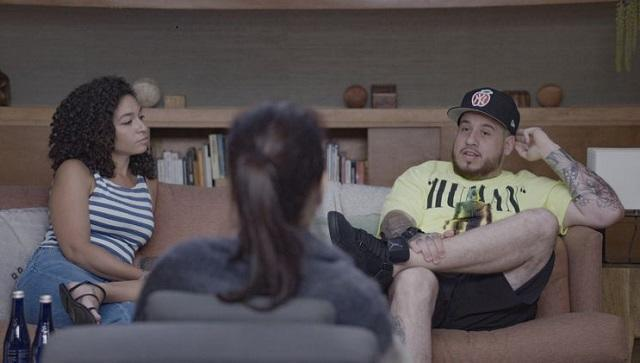 Tashira and Dru in an episode of Couples Therapy | Showtime