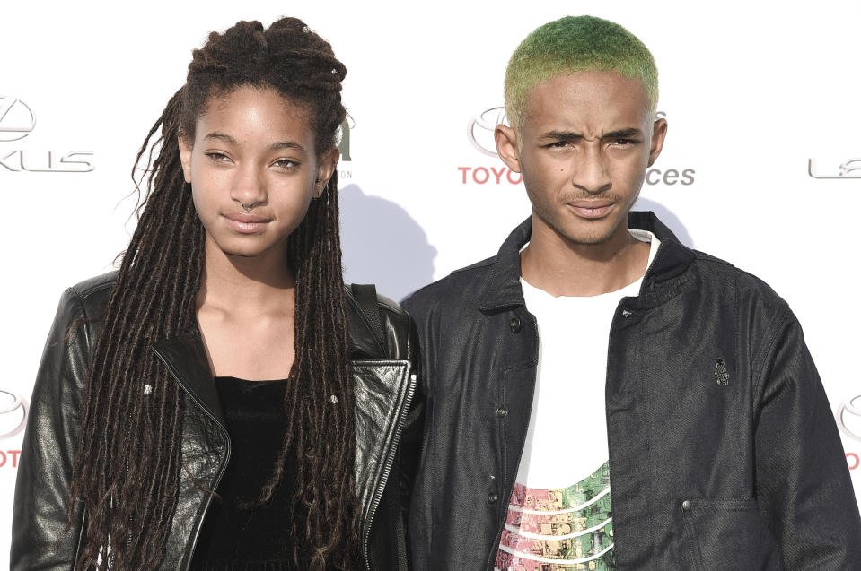 Willow Smith, left, and Jaden Smith attend the 27th Annual EMA Awards at Barker Hangar on Saturday, Sept. 23, 2017, in Santa Monica, Calif. (Photo by Richard Shotwell/Invision/AP)