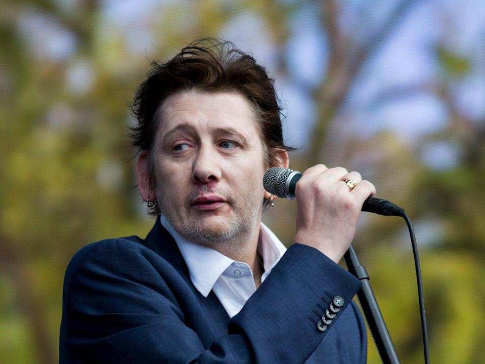 Shane MacGowan onstage in London's Hyde Park in 2014 (Getty Images)