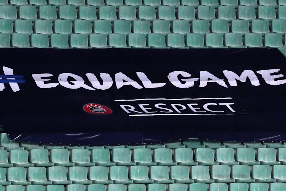 """Hungary must display an """"#EqualGame"""" Uefa banner during their next matches in Budapest (Getty Images)"""