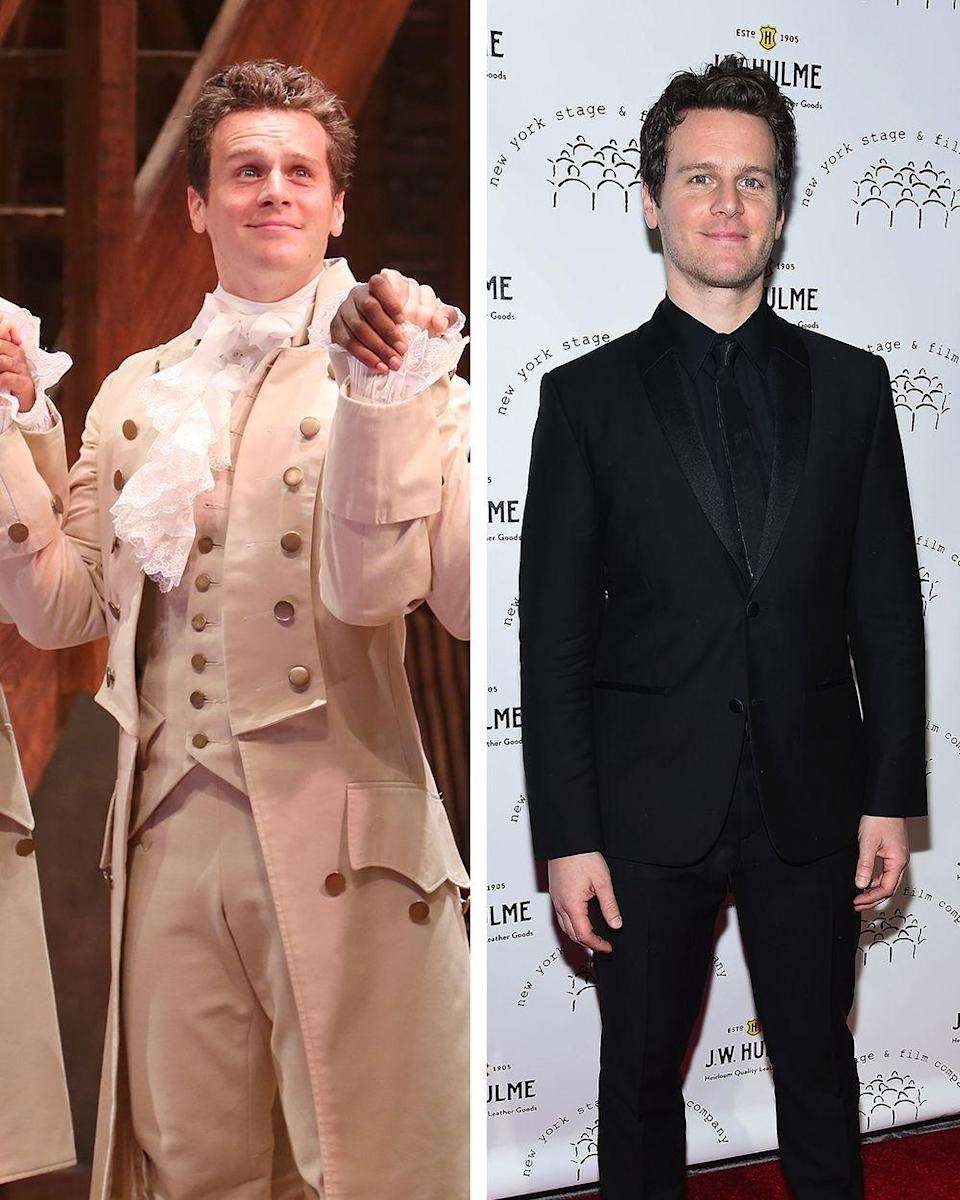 """<p>Groff is another one of the <em>Hamilton </em>actors who was famous before appearing in the show, with major roles on <em>Glee </em>and <em>Looking</em>. Groff also voiced the character Kristoff in both <em>Frozen </em>and <em>Frozen 2</em>. Since <em>Hamilton</em>, Groff starred in <a href=""""https://www.townandcountrymag.com/leisure/arts-and-culture/g28751923/mindhunter-cast-real-life-comparison/"""" rel=""""nofollow noopener"""" target=""""_blank"""" data-ylk=""""slk:the Netflix crime drama, Mindhunter"""" class=""""link rapid-noclick-resp"""">the Netflix crime drama, <em>Mindhunter</em></a>, and the actor made his return to theater, starring as Seymour Krelborn in the hit Off-Broadway adaptation of <em>Little Shop of Horrors</em>. </p>"""