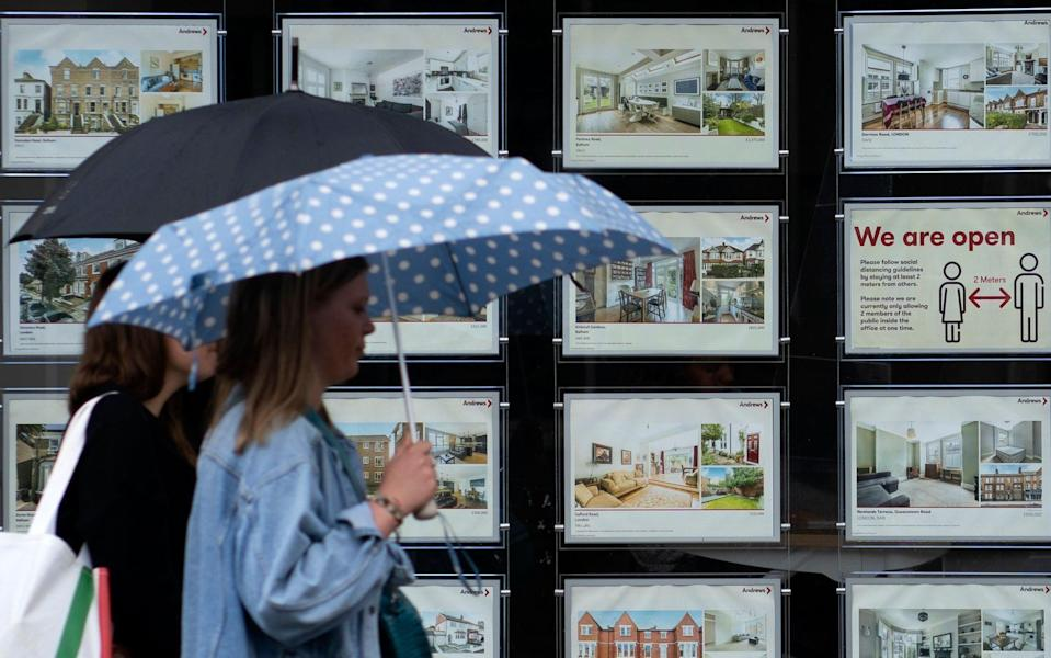 A view of an estate agents in London