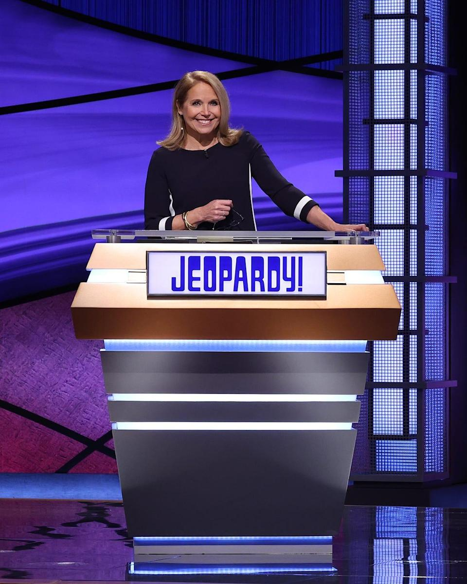 "Katie Couric guest-hosted ""Jeopardy!"" from March 8-19."