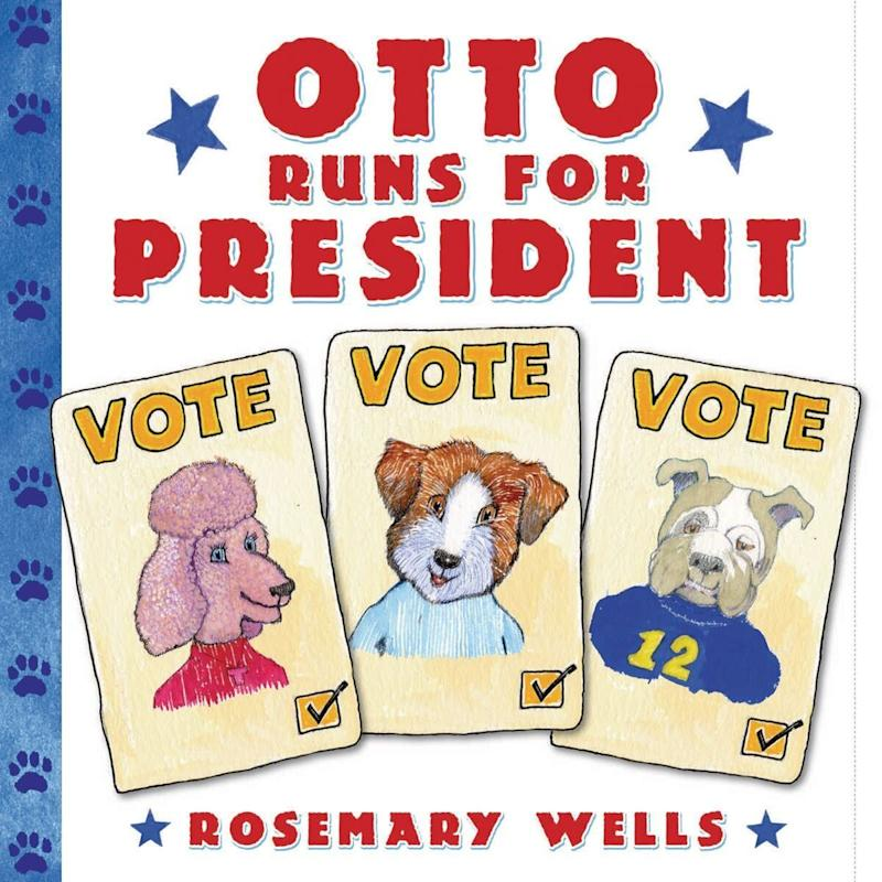 """The author behind the Max and Ruby books tackles the the topic of politics in this book about a school election.<i> (Available <a href=""""https://www.amazon.com/Otto-Runs-President-Rosemary-Wells/dp/B004JU1SEE"""" target=""""_blank"""" rel=""""noopener noreferrer"""">here</a>)</i>"""