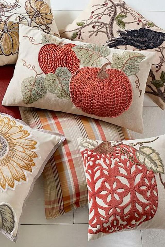 "<p>$55 and up</p><p><a rel=""nofollow"" href=""https://www.potterybarn.com/products/velvet-pumpkin-applique-pillow-cover/"">BUY NOW</a></p><p>Not a fan of bright orange? That's okay. You can still celebrate the Thanksgiving season with these more subtle fall pillow covers.</p>"