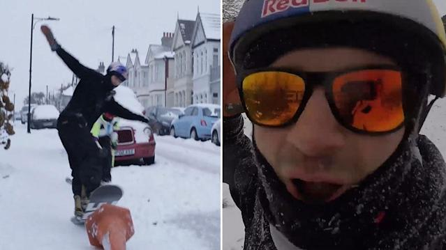 Winter Olympics bronze snowboarder Billy Morgan tackles the 'Beast from the East'