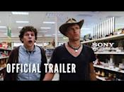 """<p>A cult classic, <em>Zombieland </em>follows a nerdy student, played by Jesse Eisenberg, who surprisingly (somewhat) survives a zombie apocalypse. With Woody Harrelson and Emma Stone co-starring, this film is equally gory and hilarious. </p><p><a class=""""link rapid-noclick-resp"""" href=""""https://www.amazon.com/Zombieland-Double-Tap-Woody-Harrelson/dp/B07Z7TH8BT/ref=sr_1_1?dchild=1&keywords=zombieland&qid=1623693183&sr=8-1&tag=syn-yahoo-20&ascsubtag=%5Bartid%7C2139.g.34484258%5Bsrc%7Cyahoo-us"""" rel=""""nofollow noopener"""" target=""""_blank"""" data-ylk=""""slk:Stream it here"""">Stream it here</a></p><p><a href=""""https://www.youtube.com/watch?v=8m9EVP8X7N8"""" rel=""""nofollow noopener"""" target=""""_blank"""" data-ylk=""""slk:See the original post on Youtube"""" class=""""link rapid-noclick-resp"""">See the original post on Youtube</a></p>"""