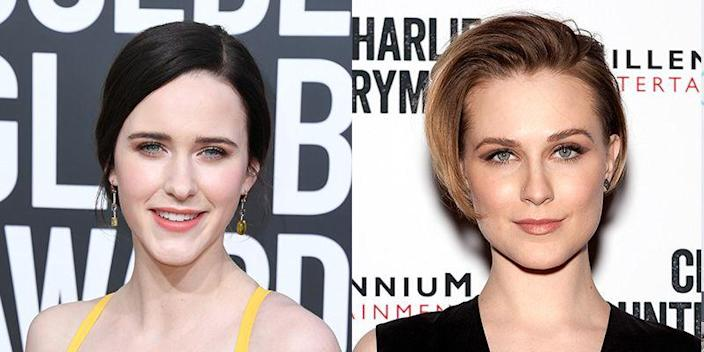 <p><em>The Marvelous Mrs. Maisel</em>'s Rachel Brosnahan is a natural blonde, which would make her look even more like <em>Westworld</em>'s Evan Rachel Wood, on top of their similar square jaws and fair complexions.</p>