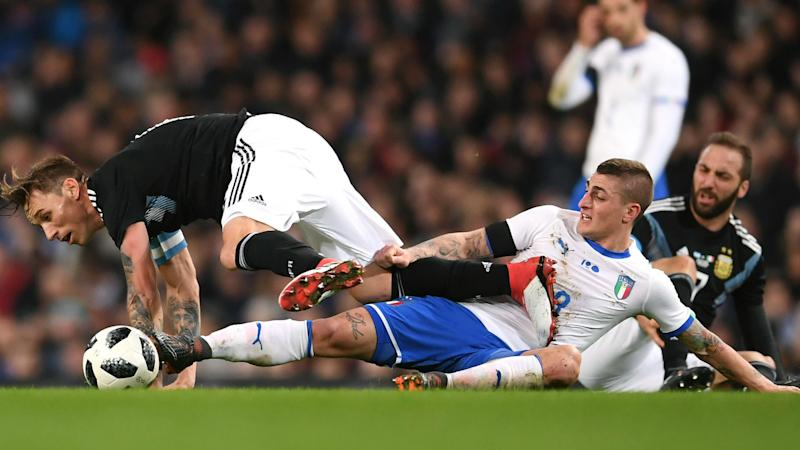 Italy unsure over Verratti injury after limping off loss to Argentina