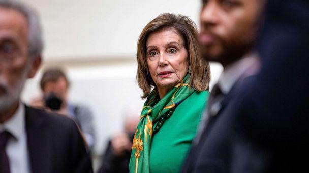 PHOTO: House spokeswoman Nancy Pelosi leaves a democratic meeting after announcing that Parliament will vote on January 15 to remove the Senate's articles from the U.S. Capitol in Washington, January 14, 2020, to send. (Sam Corum / EPA via Shutterstock)