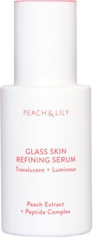 <p>The <span>PEACH &amp; LILY Glass Skin Refining Serum</span> ($39) will leave your skin looking dewy and glowing while it hydrates, plumps, calms, and brightens with ease. It contains antioxidants from peach extract, niacinamide, and diminishes irritation with centella asiatica extract and Asian mountain yam extract. </p>