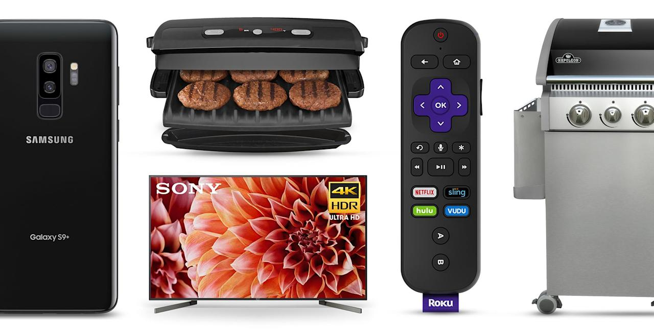 "<p>Time off during Memorial Day weekend is a great opportunity to prep for summer and take advantage of deals on anything from home electronics to backyard patio equipment. Set up a new TV or smartphone, WiFi or streaming system, or perhaps a new grill or smoker, just in time for any picnic, trip, or get-together you may be planning. All of these products are up to 50% off at <a href=""https://www.walmart.com/m/savings-center"" target=""_blank"">Walmart</a> this week until Memorial Day weekend or beyond.</p>"