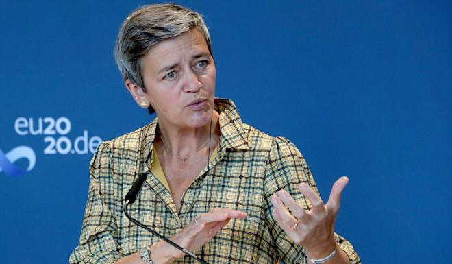"""Margrethe Vestager said the high-level digital dialogue was held in a """"constructive atmosphere"""". Photo: AFP"""