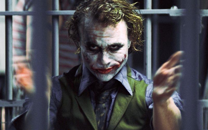 The late Heath Ledger as The Joker in The Dark Knight - Warner Bros