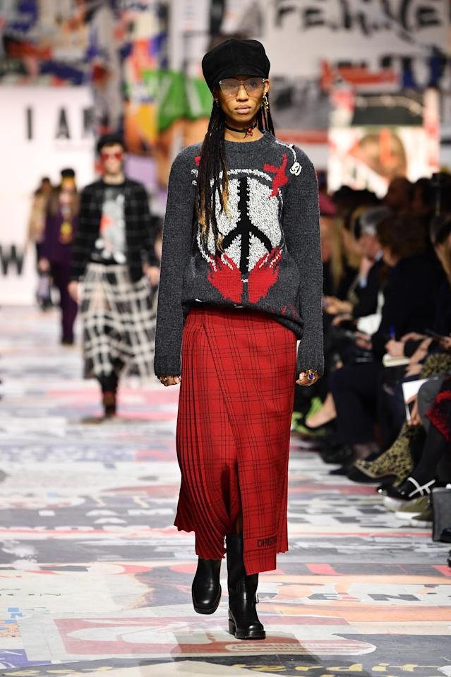 A model walks the runway during the Christian Dior show as part of Paris Fashion Week Womenswear Fall/Winter 2018/2019 on Feb. 27, 2018 in Paris. (Photo: Getty Images)