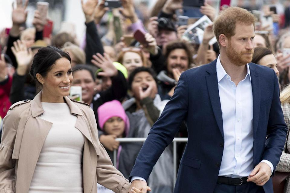 <p>Meghan and Harry</p> (Getty Images)