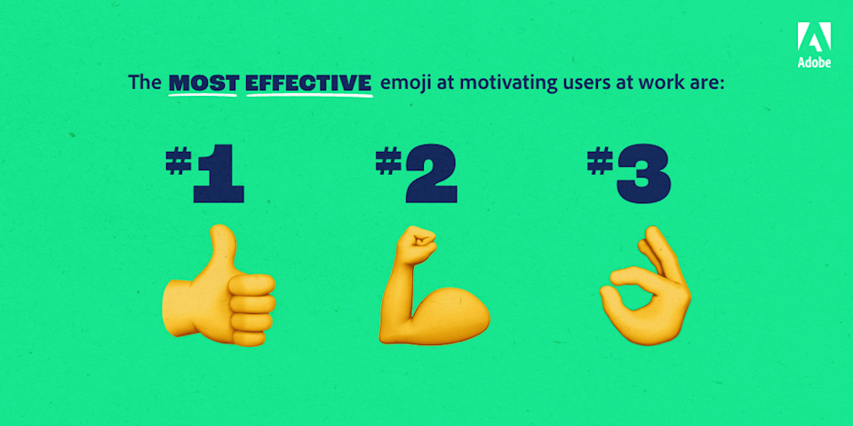 Most effective emojis at motivating workers