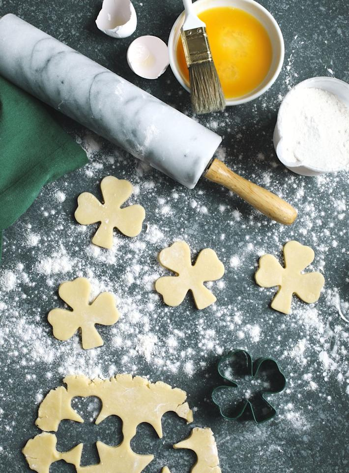 "<p>See who can create the most fun and festive four leaf clover in a cookie decorating contest. No matter who wins, the results will definitely be delicious.</p><p><a class=""body-btn-link"" href=""https://www.amazon.com/Ann-Clark-Cookie-Cutters-Patricks/dp/B01MYF09E8/ref=sr_1_4?crid=M7IAQ2UY5RXS&keywords=shamrock+cookie+cutters&qid=1578952792&sprefix=shamrock+cooki%2Caps%2C143&sr=8-4&tag=syn-yahoo-20&ascsubtag=%5Bartid%7C10055.g.5020%5Bsrc%7Cyahoo-us"" target=""_blank"">SHOP SHAMROCK COOKIE CUTTERS</a></p>"