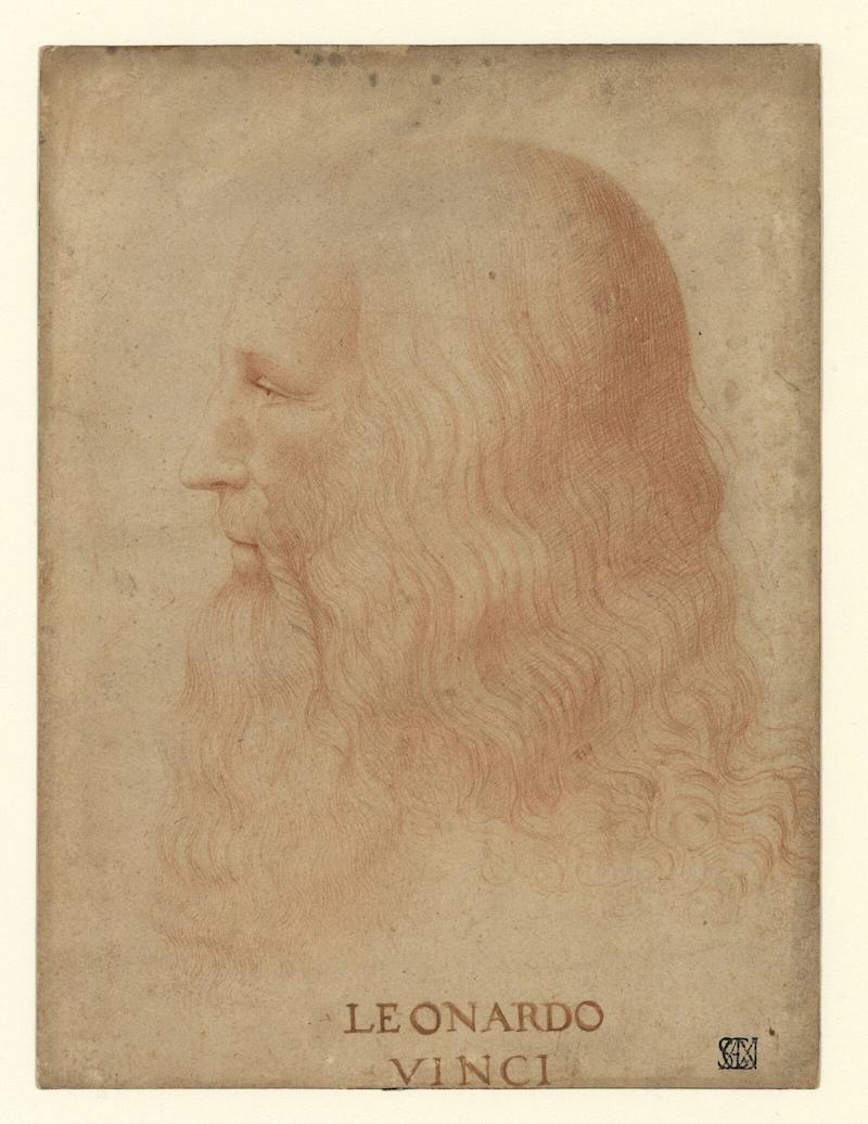 Attributed to Marco D'Oggiono (1475-1530). Portrait of Leonardo da Vinci