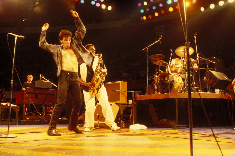 Photo of Bruce SPRINGSTEEN and Danny FEDERICI and Clarence CLEMONS - Credit: Richard E. Aaron/Redferns/Getty