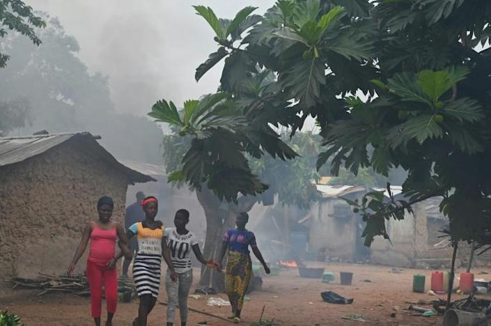 The clashes broke out Friday in and around Bongouanou north of the main city Abidjan