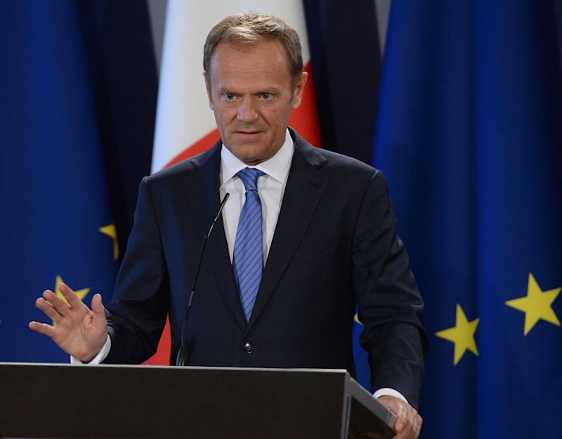 Donald Tusk discussed the UK's formally triggering of Article 50: AFP/Getty