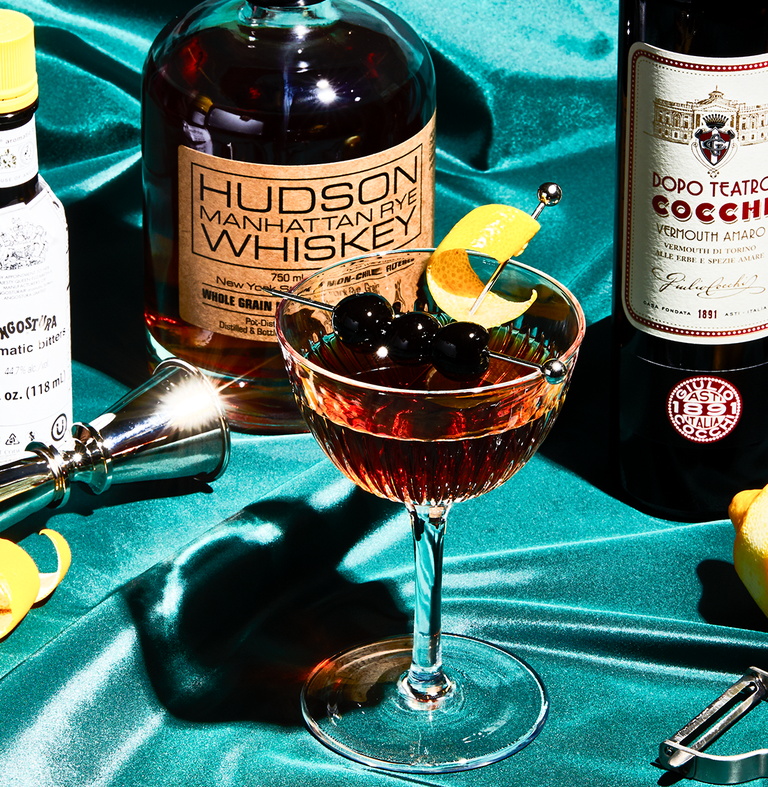 """<p><em>Although we tend to see more Manhattans with rye whiskey, if bourbon is your preference, have at it. This is a cocktail that is brash in flavor and in strength—much like the borough it takes its name from.</em><br></p><p><strong>Ingredients<br></strong>• 2 oz. bourbon<br>• 1 oz. Italian vermouth<br>• 2 dashes Angostura bitters</p><p><strong>Directions<br></strong>1. Stir the rye, vermouth, and bitters well with cracked ice.<br>2. Strain into a chilled cocktail glass, and garnish with a twist or a maraschino cherry. <br><br><a class=""""link rapid-noclick-resp"""" href=""""https://www.esquire.com/food-drink/drinks/recipes/a3713/manhattan-drink-recipe/"""" rel=""""nofollow noopener"""" target=""""_blank"""" data-ylk=""""slk:Read More"""">Read More</a><br></p>"""