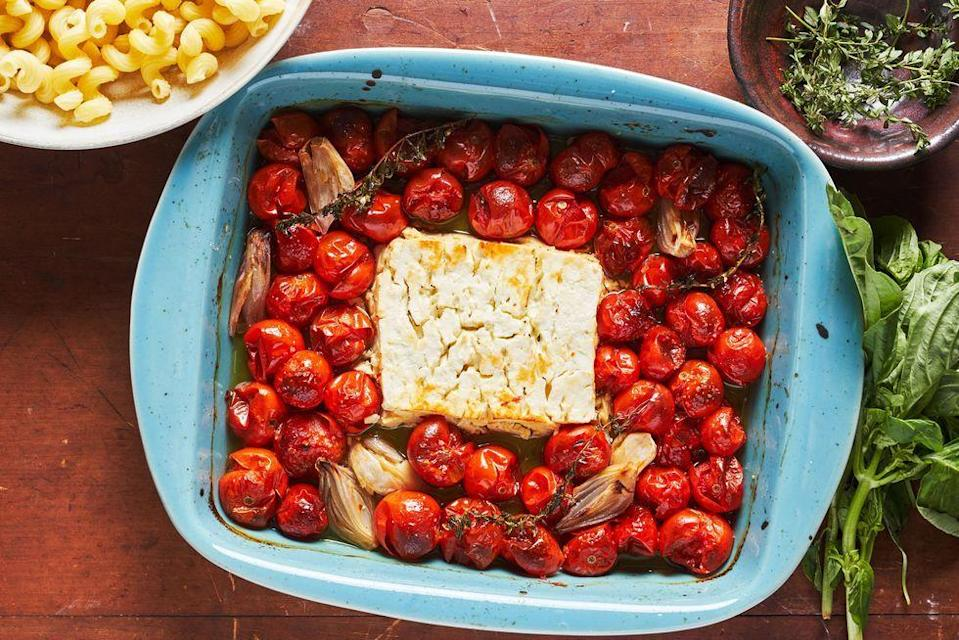<p>Yes, THAT viral TikTok recipe... </p><p>Get the Baked Feta Pasta recipe. <br><br></p>