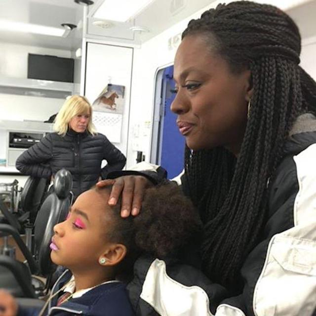 "<p>When mama is a TV star, there are many benefits, including getting a glam hair and makeup makeover on the set of <em>How to Get Away With Murder</em>. Genesis Tennon enjoyed a day in mom <a href=""https://www.yahoo.com/celebrity/tagged/viola-davis/"" data-ylk=""slk:Viola Davis"" class=""link rapid-noclick-resp"">Viola Davis</a>'s life last year when she was 5. It almost looked more fun for mom than daughter. (Photo: Viola Davis via <a href=""https://www.instagram.com/p/BAxj36bNZ2y/?taken-by=violadavis"" rel=""nofollow noopener"" target=""_blank"" data-ylk=""slk:Instagram"" class=""link rapid-noclick-resp"">Instagram</a>) </p>"