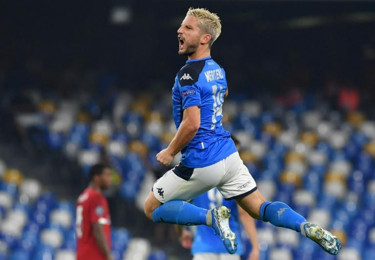 Napoli's Belgian forward Dries Mertens has scored four goals in as many matches this season