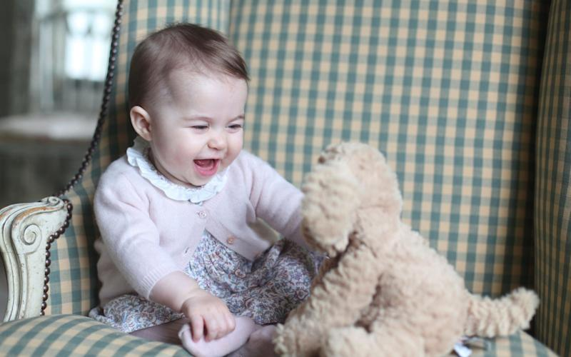 Princess Charlotte on her first birthday
