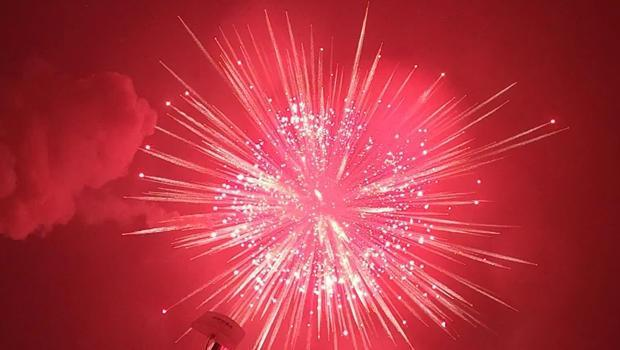 An illuminating attempt for a Guinness World Record: the World's Largest Firework. / Credit: CBS News