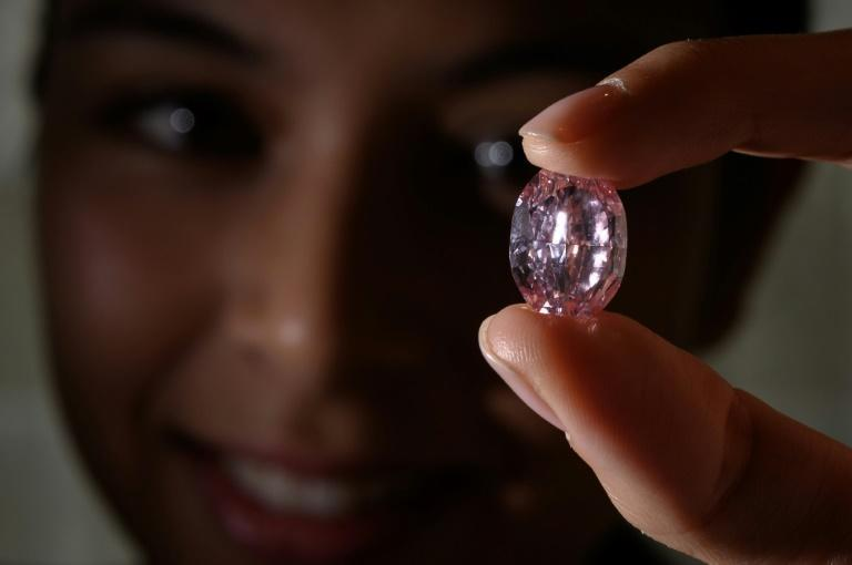 """""""The Spirit of the Rose"""", a rare 14.83-carat purple pink diamond, has been sold for $27 million"""