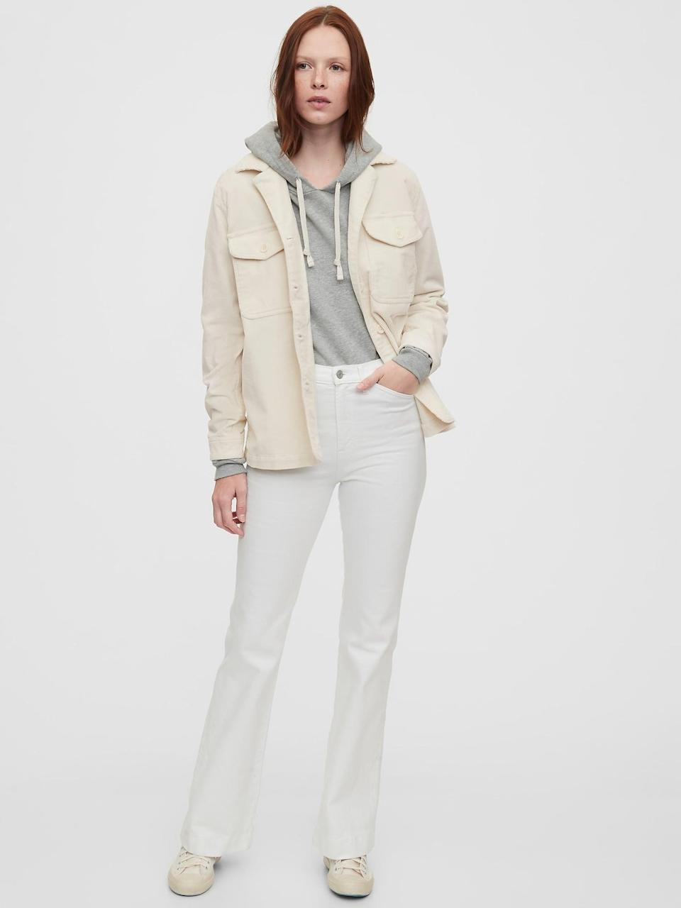 <p>This <span>Gap Corduroy Shirt Jacket</span> ($90) is such a cool layering piece.</p>