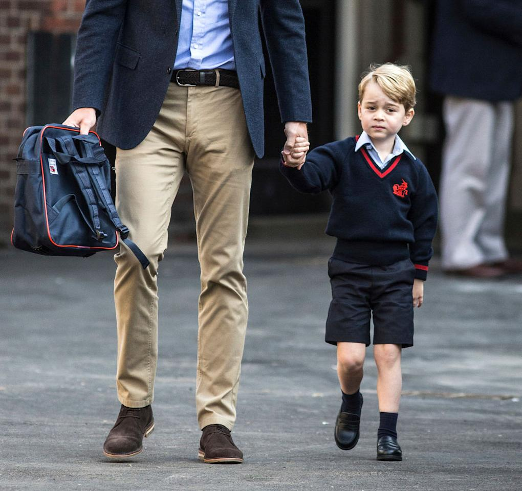 "<p>As an unofficial royal rule, senior members of the royal family have attended boarding schools with peers of the same sex, but rumour has it that Duchess of Cambridge and Prince William might break from royal tradition when it comes to Prince George and allow him to attend a co-ed school instead of single sex: ""The word on the street is that his parents want co-education and boarding when he leaves prep school,"" a source told <em>The Sunday Times</em>. <br /><br />So instead of following in dad William and uncle Harry's footsteps by attending Eton College independent boarding school for boys — George just might break an unofficial royal rule attending a mixed-sex boarding school. <em>(Photo: Getty)</em> </p>"
