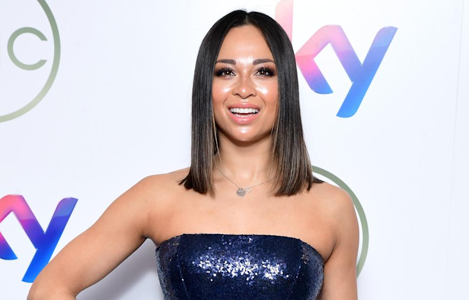 Katya Jones has admitted dancing with a mask on can cause problems. (PA)