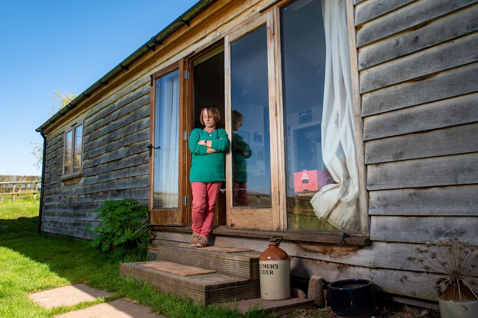 Brigid Eakins, 66, believed she was allowed to build the home on her land near Tenbury Wells. (SWNS)