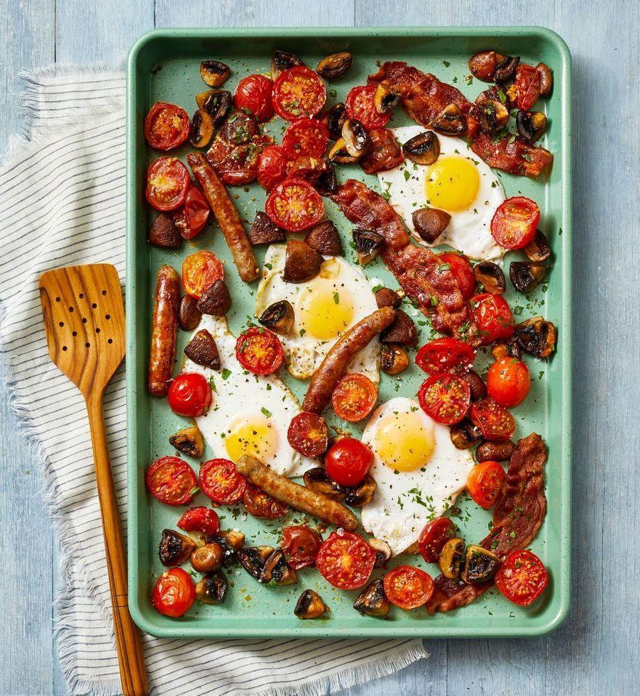 "<p>Try this savory breakfast (or breakfast for dinner!) on the GH Better Half Sheet Pan, available on <a href=""https://go.redirectingat.com?id=74968X1596630&url=https%3A%2F%2Fwww.qvc.com%2Fkitchen-%26-food%2Fgood-housekeeping%2F_%2FN-lglvZ1yp080u%2Fc.html%3Fcm_ven%3DEDIT%26cm_cat%3DVENDOR%26cm_pla%3DGOODHOUSEKEEPING_20201011_id%253AGOODHOUSEKEEPING%26cm_ite%3DKIT_BRANDPAGE_ai%253AGOODHOUSEKEEPING&sref=https%3A%2F%2Fwww.goodhousekeeping.com%2Ffood-recipes%2Feasy%2Fg30270283%2Fsheet-pan-dinners%2F"" rel=""nofollow noopener"" target=""_blank"" data-ylk=""slk:qvc.com"" class=""link rapid-noclick-resp"">qvc.com</a>.</p><p><a href=""https://www.goodhousekeeping.com/food-recipes/a34464150/sheet-pan-breakfast-bake-recipe/"" rel=""nofollow noopener"" target=""_blank"" data-ylk=""slk:Get the recipe for Sheet Sausage & Egg Breakfast Bake »"" class=""link rapid-noclick-resp""><em>Get the recipe for Sheet Sausage & Egg Breakfast Bake »</em></a></p>"