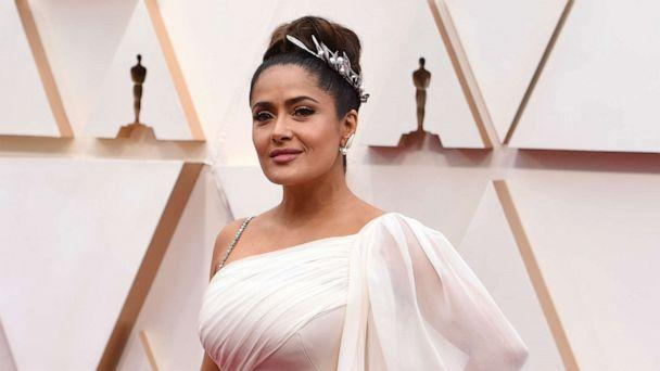 PHOTO: Salma Hayek attends the 92nd annual Academy Awards, Feb. 9, 2020, in Hollywood, Calif. (Jordan Strauss/Invision/AP)