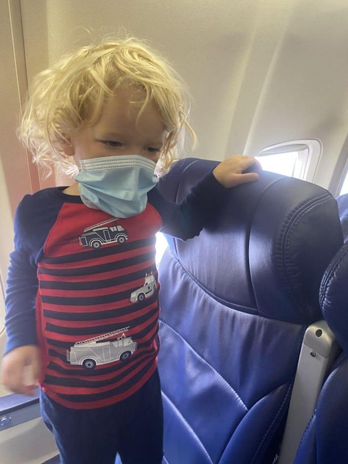 Jodi Degyansky and her son were escorted off of a Southwest Airlines flight at Southwest Florida International Airport in Fort Myers because the 2-year-old was eating snacks and so not wearing his mask, she said.
