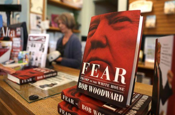 PHOTO: The newly released book 'Fear' by Bob Woodward is displayed at Book Passage on September 11, 2018 in Corte Madera, Calif. The new book 'Fear' by Bob Woodward about the Trump administration hit store shelves today.  (Justin Sullivan/Getty Images)