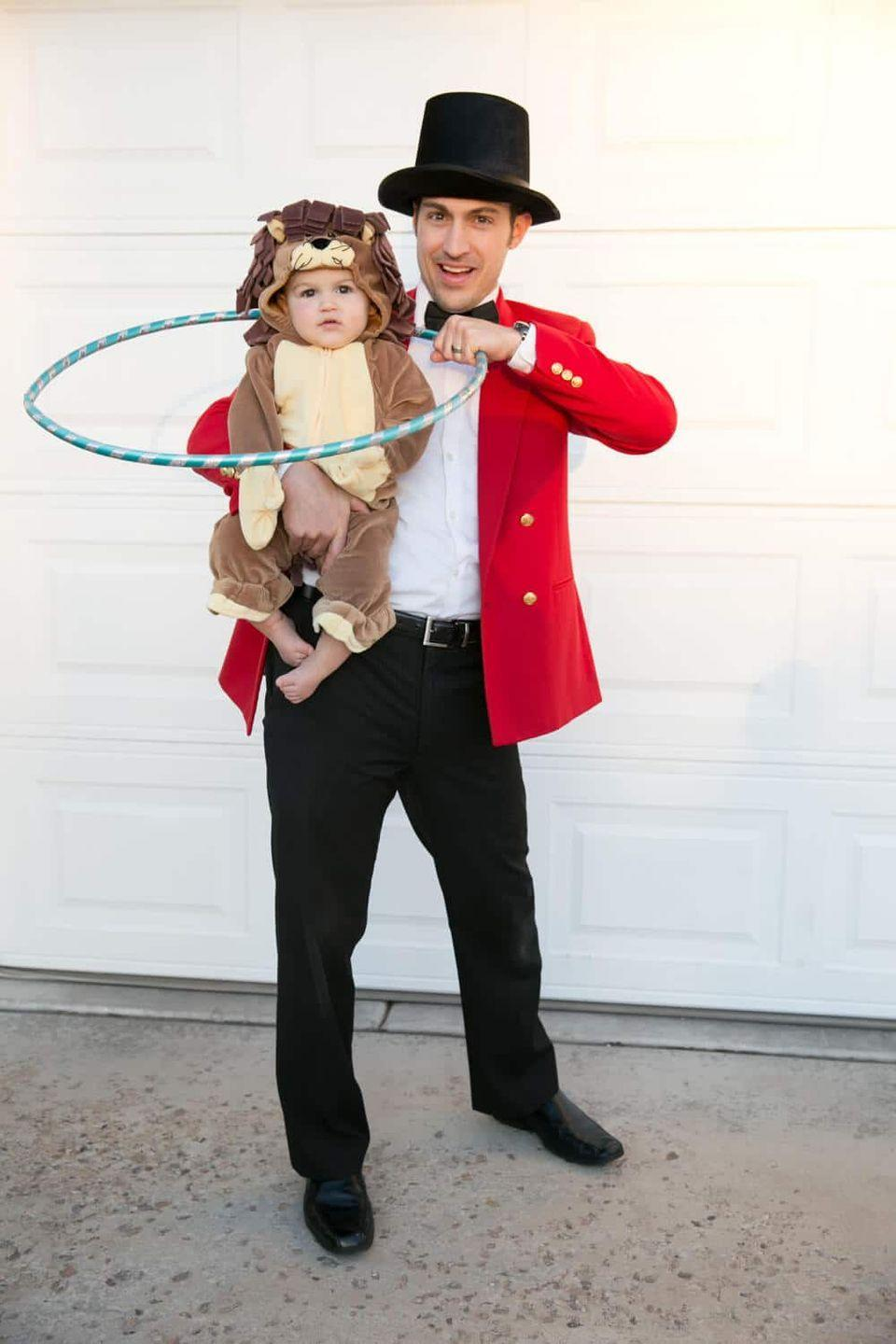 """<p>If you have a hula hoop at home, you're already one step closer to finishing this simple DIY costume. Check your local thrift store for a cheap red jacket or blazer. </p><p><strong>See more at <a href=""""https://sofestive.com/2018/10/17/family-halloween-costume-ideas/"""" rel=""""nofollow noopener"""" target=""""_blank"""" data-ylk=""""slk:So Festive!"""" class=""""link rapid-noclick-resp"""">So Festive!</a>.</strong></p><p><a class=""""link rapid-noclick-resp"""" href=""""https://www.amazon.com/Funny-Party-Hats-Black-Costume/dp/B07CJPYXV9/ref=pd_lpo_sbs_193_img_0?tag=syn-yahoo-20&ascsubtag=%5Bartid%7C10050.g.29402076%5Bsrc%7Cyahoo-us"""" rel=""""nofollow noopener"""" target=""""_blank"""" data-ylk=""""slk:SHOP TOP HATS"""">SHOP TOP HATS</a></p>"""