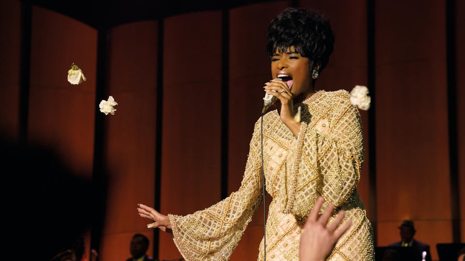 Jennifer Hudson is playing Aretha Franklin. The actor was handpicked by the Queen of Soul prior to her death in 2018, so no pressure J-Hud. It feels like the Best Actress trophy in 2022 should have her name engraved upon it sharpish. <em>Cats</em> is but a memory… all alone in the moonlight. (Credit: Quantrell D. Colbert/MGM)