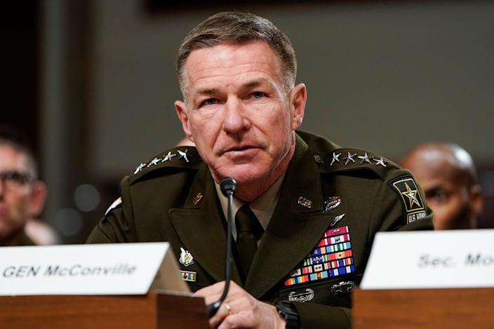 Army Chief of Staff Gen. James McConville. (Joshua Roberts/Reuters)