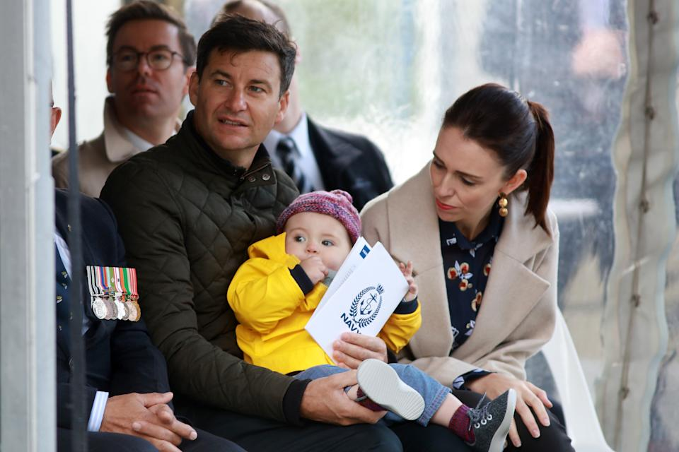 The couple are parents to one-year-old daughter Neve - who also had a trim (Getty Images)